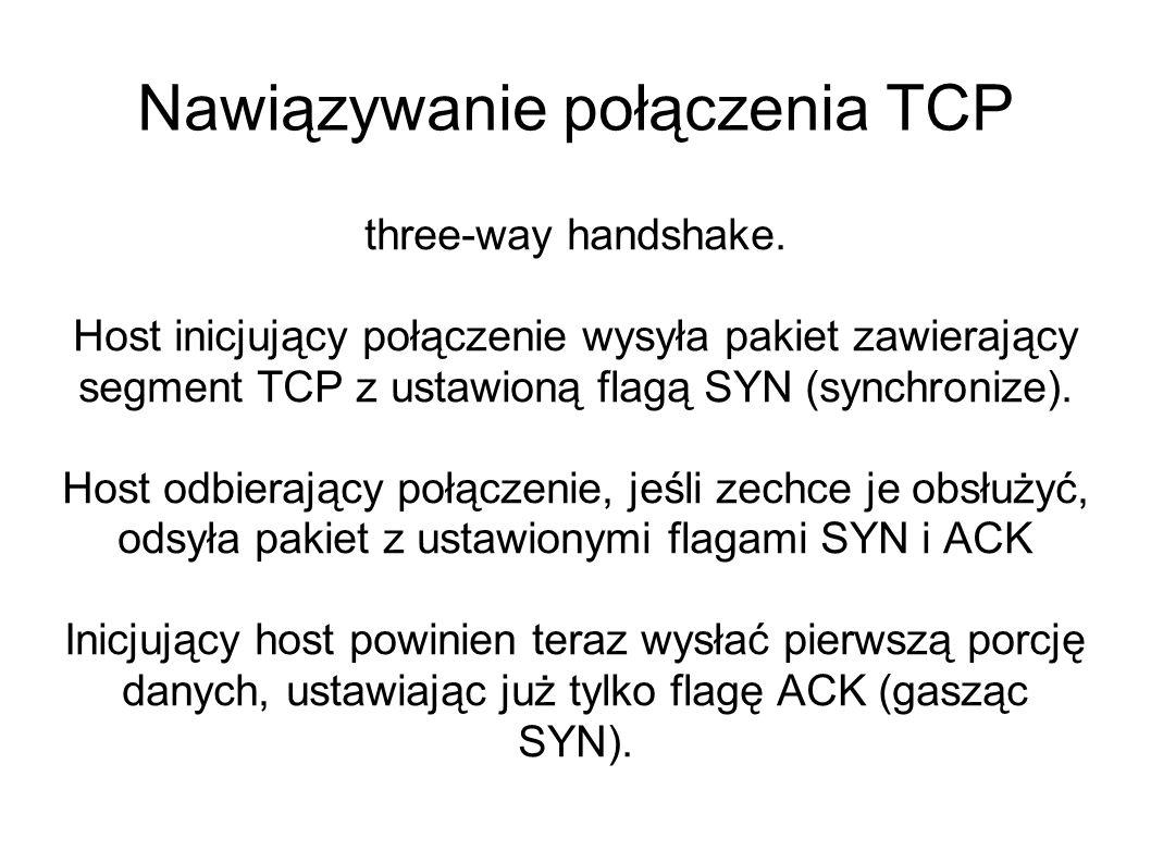 Nawiązywanie połączenia TCP