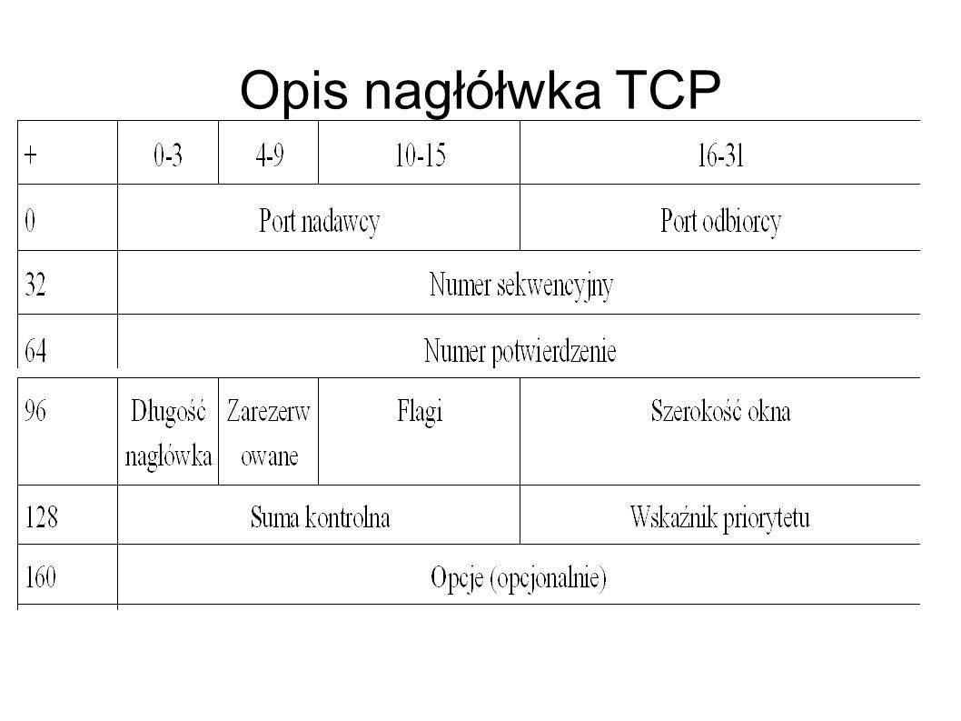 Opis nagłółwka TCP