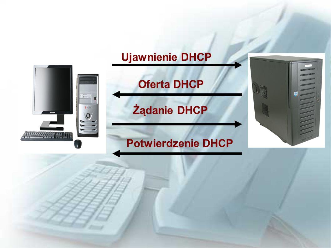 Ujawnienie DHCP Oferta DHCP Żądanie DHCP Potwierdzenie DHCP