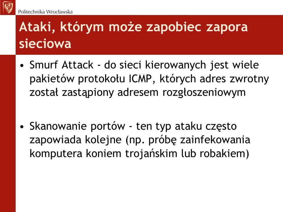 Ataki, którym może zapobiec zapora sieciowa