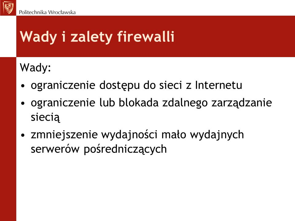 Wady i zalety firewalli