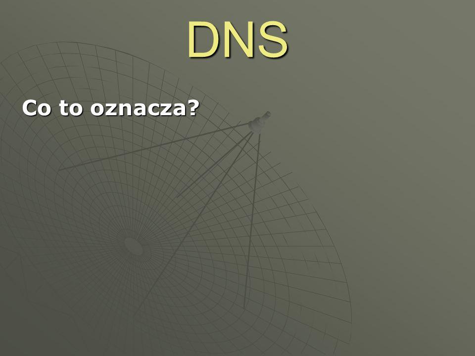 DNS Co to oznacza -> 64.233.183.147. 213.180.130.200. 156.17.75.97. 152.46.7.81. www.google.pl.