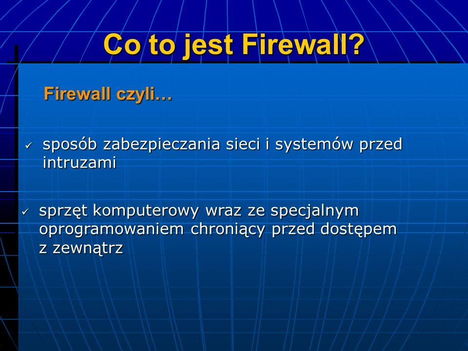Co to jest Firewall Firewall czyli…