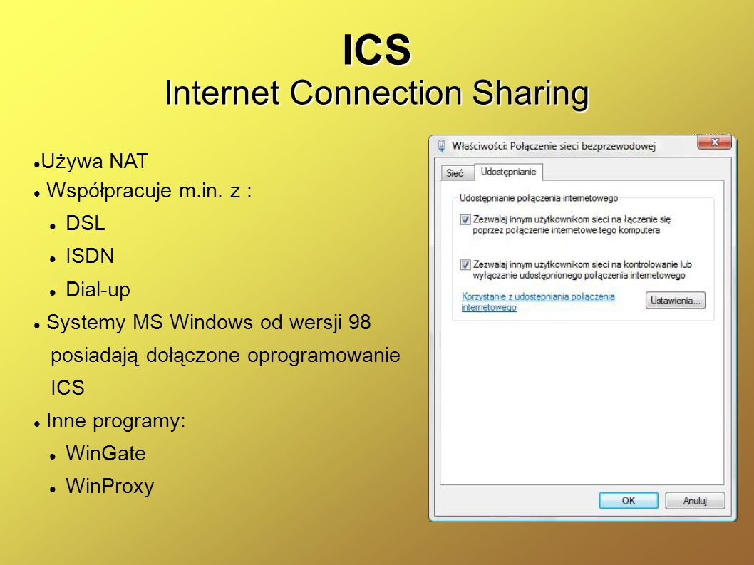 ICS Internet Connection Sharing