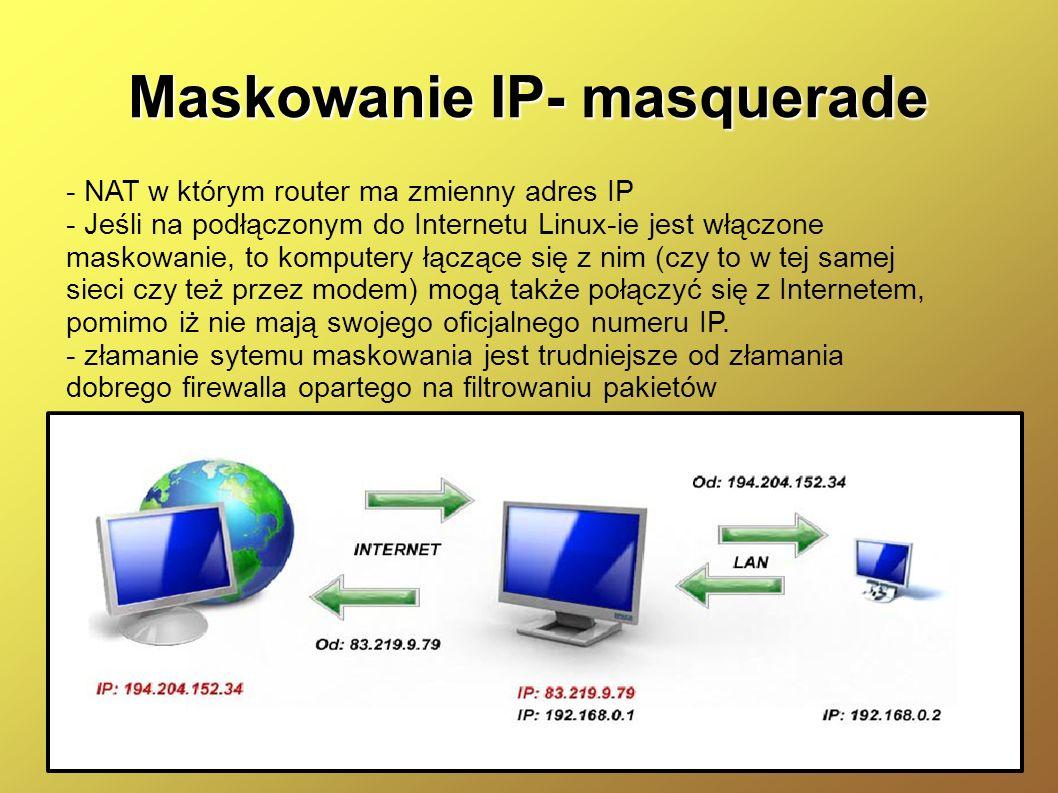 Maskowanie IP- masquerade