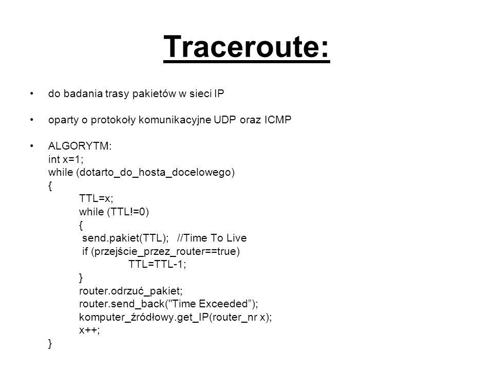 Traceroute: do badania trasy pakietów w sieci IP