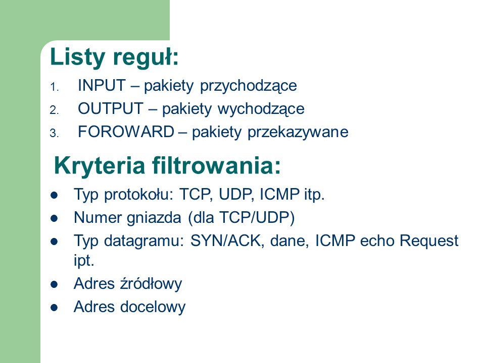Kryteria filtrowania: