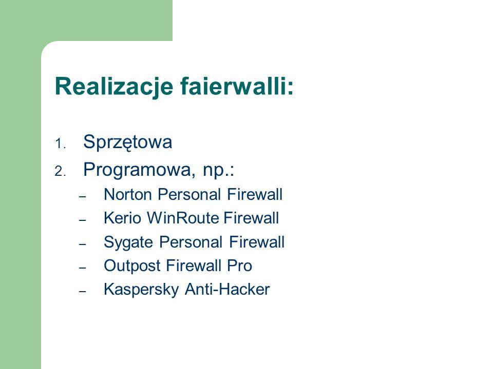 Realizacje faierwalli: