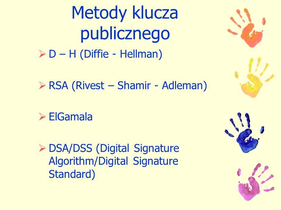Metody klucza publicznego