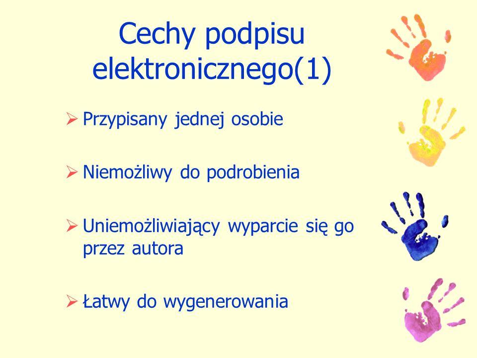 Cechy podpisu elektronicznego(1)