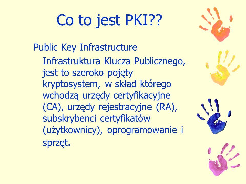 Co to jest PKI Public Key Infrastructure