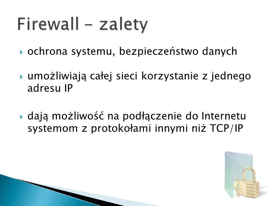 Firewall - zalety ochrona systemu, bezpieczeństwo danych