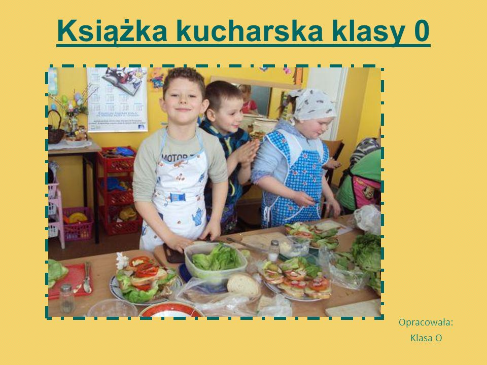 Książka kucharska klasy 0