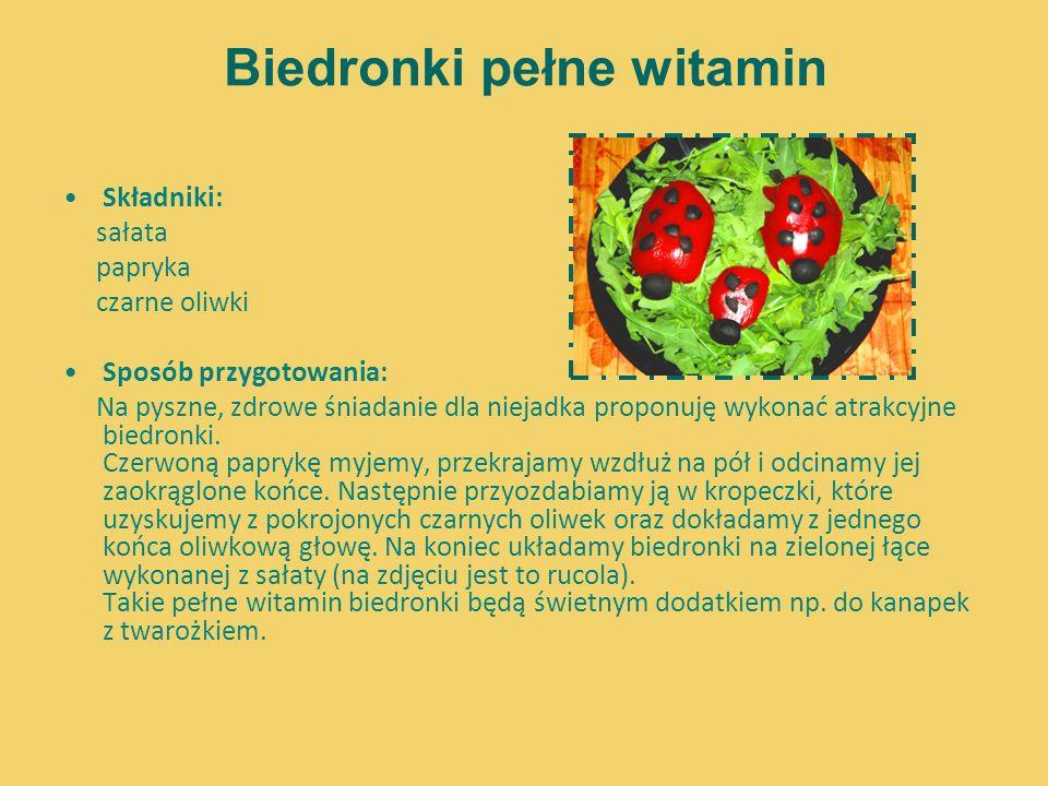 Biedronki pełne witamin