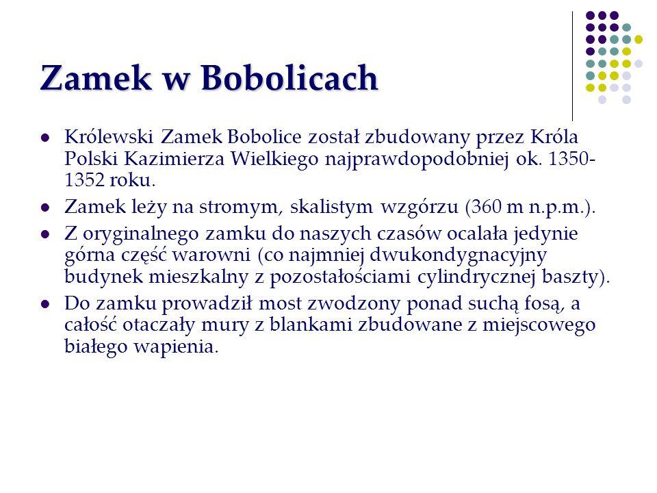 Zamek w BobolicachKrólewski Zamek Bobolice został zbudowany przez Króla Polski Kazimierza Wielkiego najprawdopodobniej ok. 1350-1352 roku.