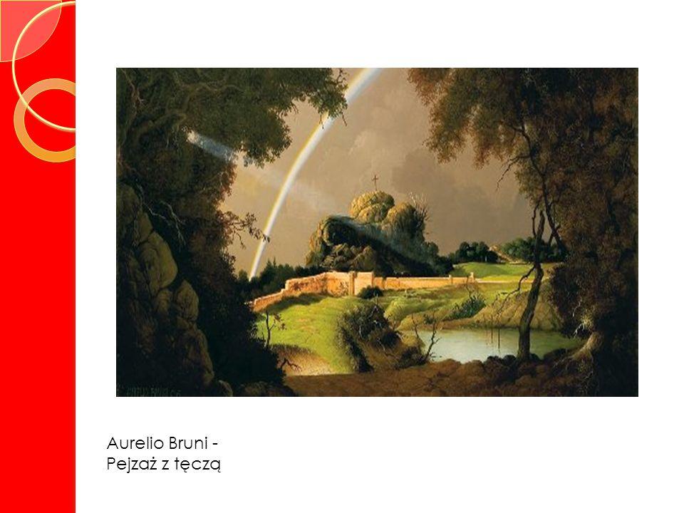 Aurelio Bruni - Pejzaż z tęczą