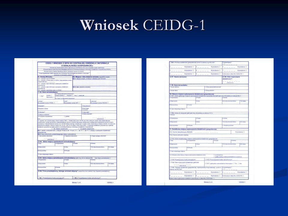 Wniosek CEIDG-1