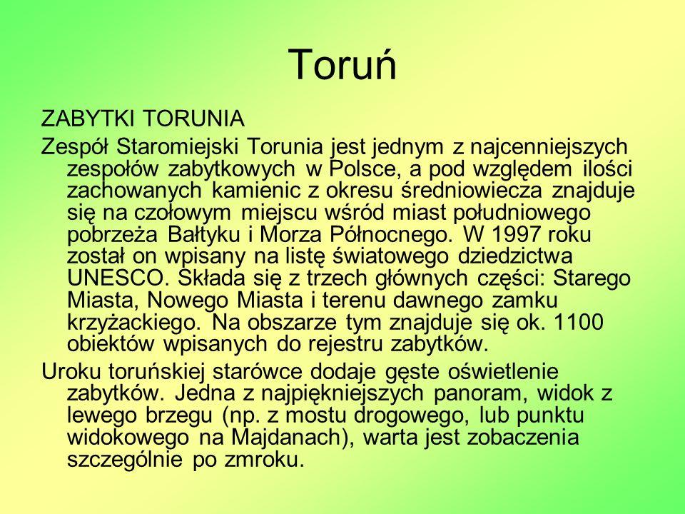 Toruń ZABYTKI TORUNIA.
