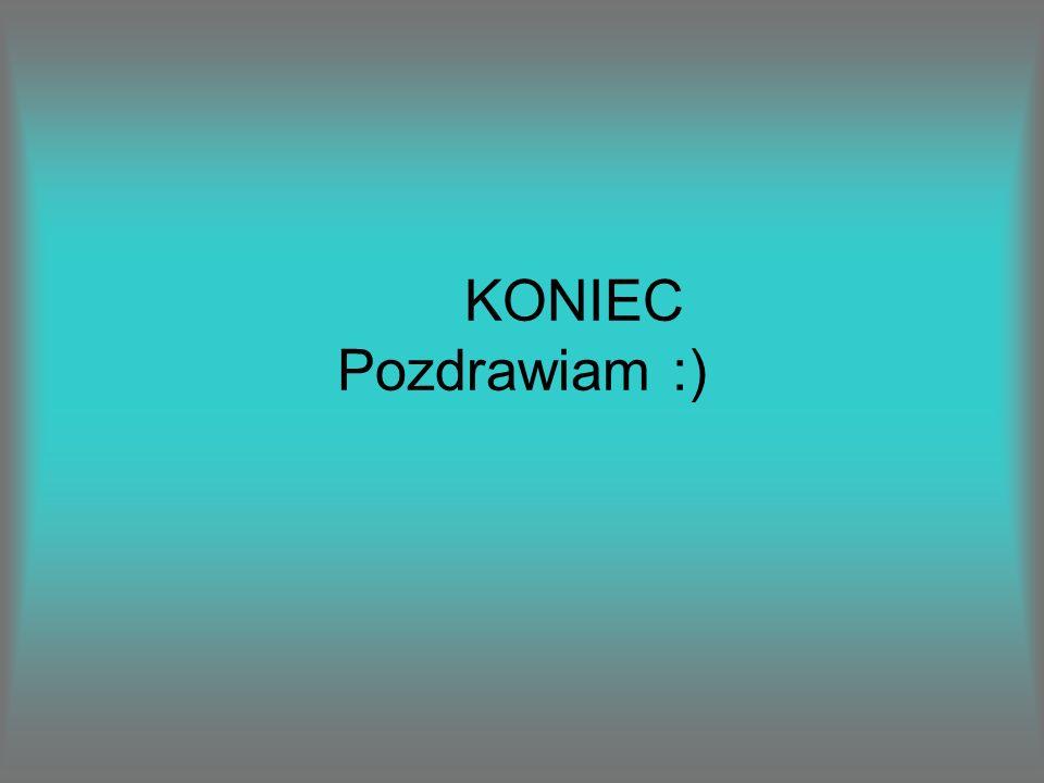 KONIEC Pozdrawiam :)