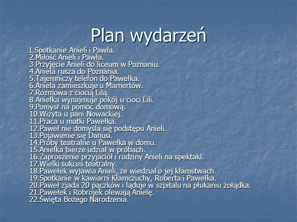Plan wydarzeń