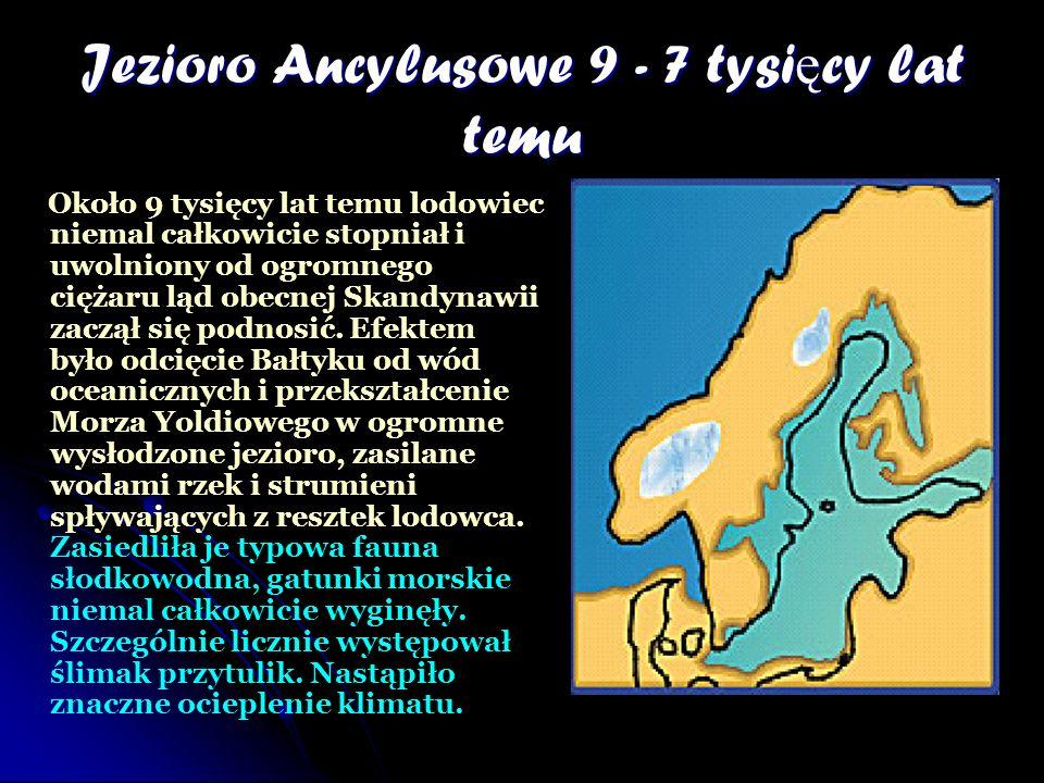 Jezioro Ancylusowe 9 - 7 tysięcy lat temu