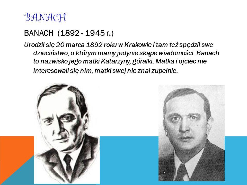 BANACH BANACH (1892 - 1945 r.)