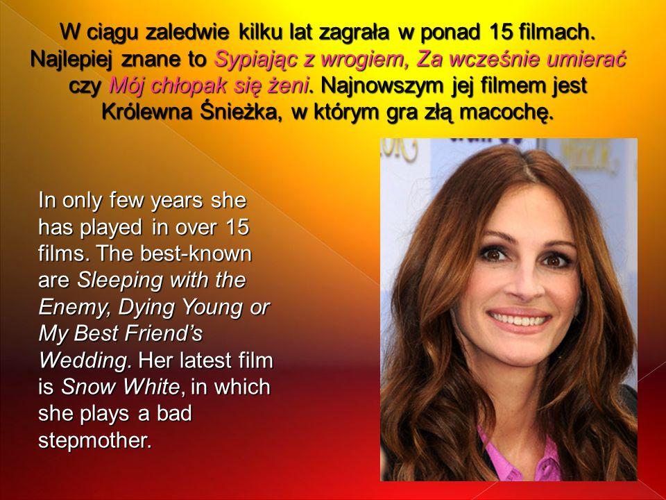 W ciągu zaledwie kilku lat zagrała w ponad 15 filmach