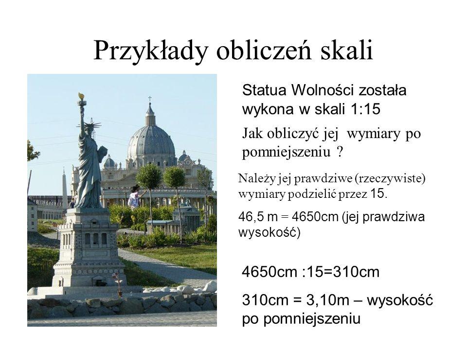 Przykłady obliczeń skali