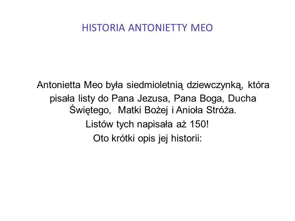 HISTORIA ANTONIETTY MEO