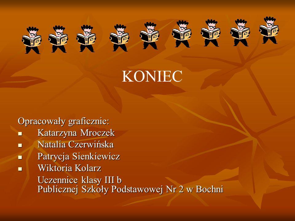 KONIEC Opracowały graficznie: Katarzyna Mroczek Natalia Czerwińska