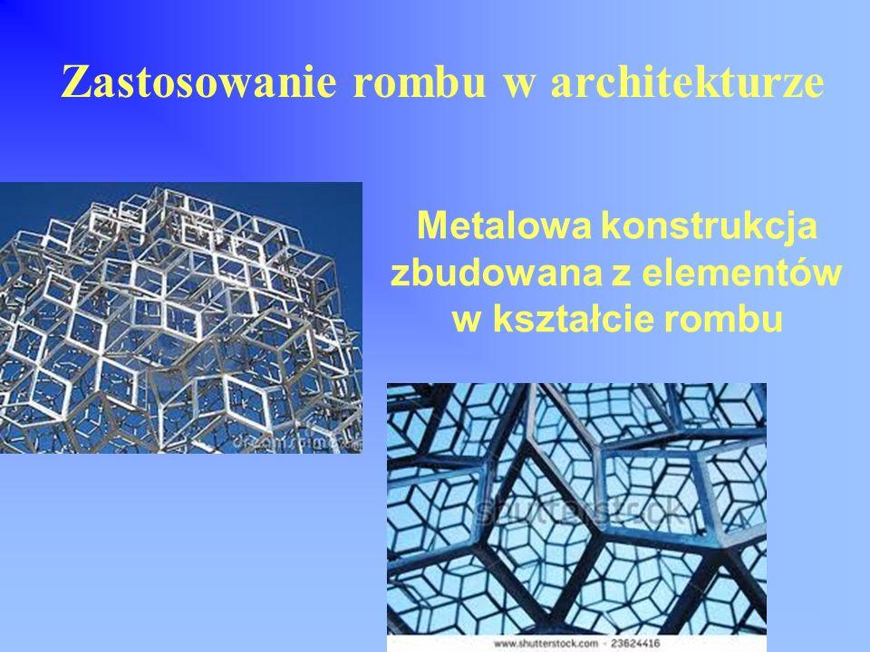 Metalowa konstrukcja zbudowana z elementów w kształcie rombu