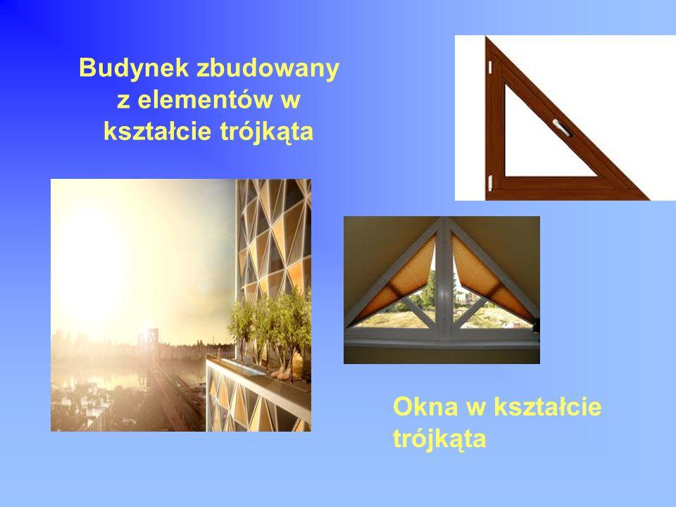 Budynek zbudowany z elementów w kształcie trójkąta