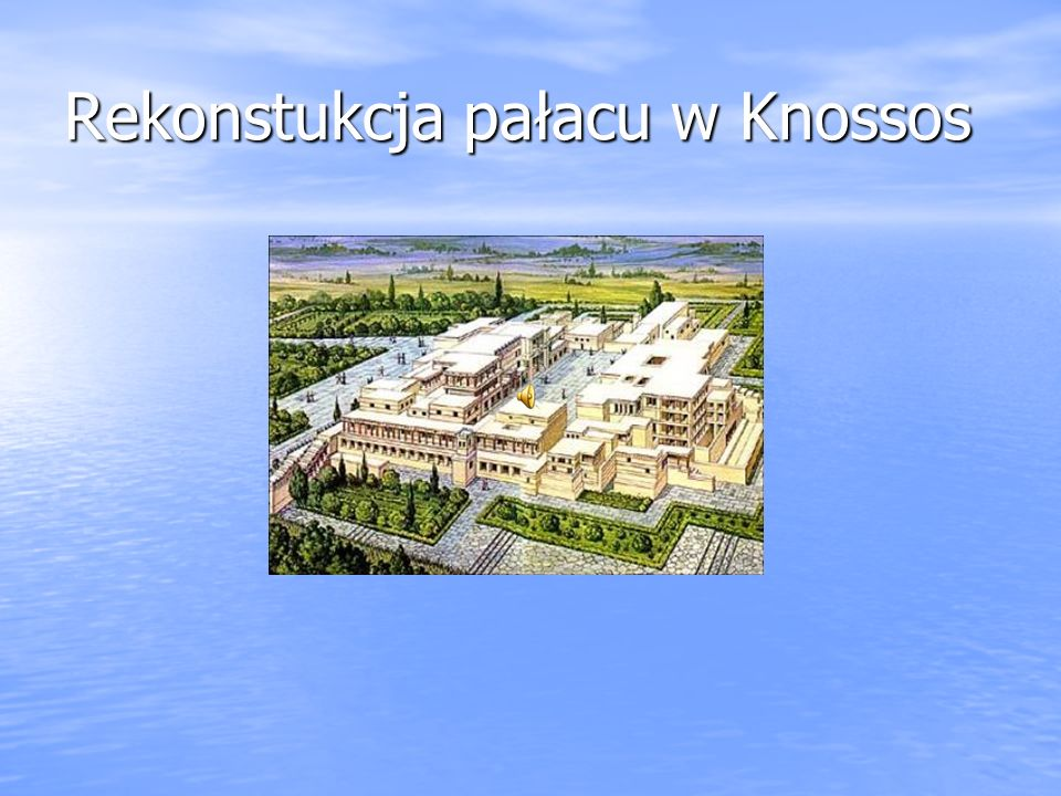 Rekonstukcja pałacu w Knossos
