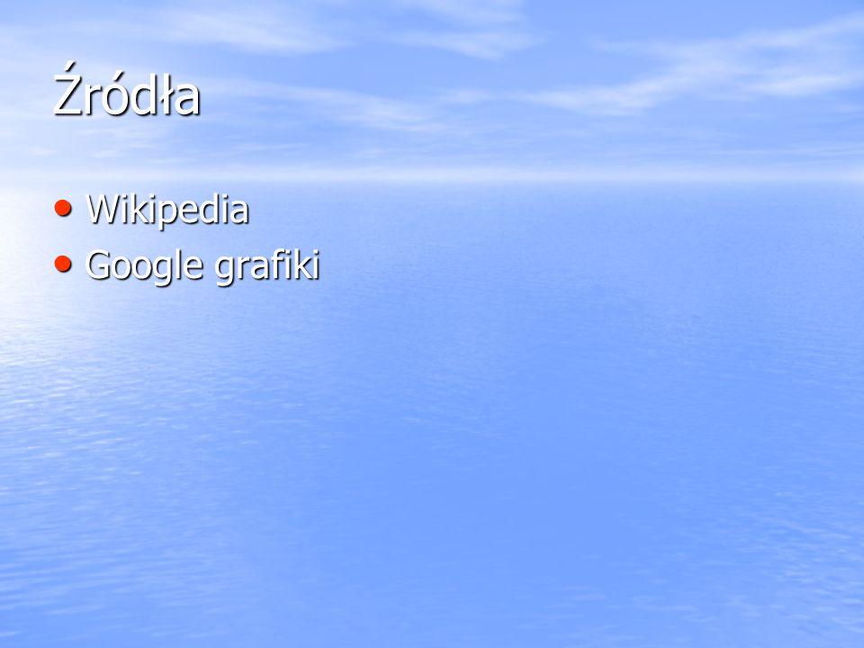Źródła Wikipedia Google grafiki