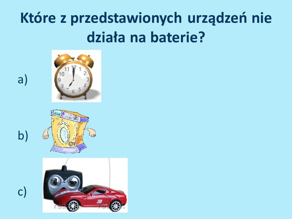 Które z przedstawionych urządzeń nie działa na baterie