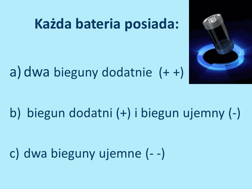 Każda bateria posiada:
