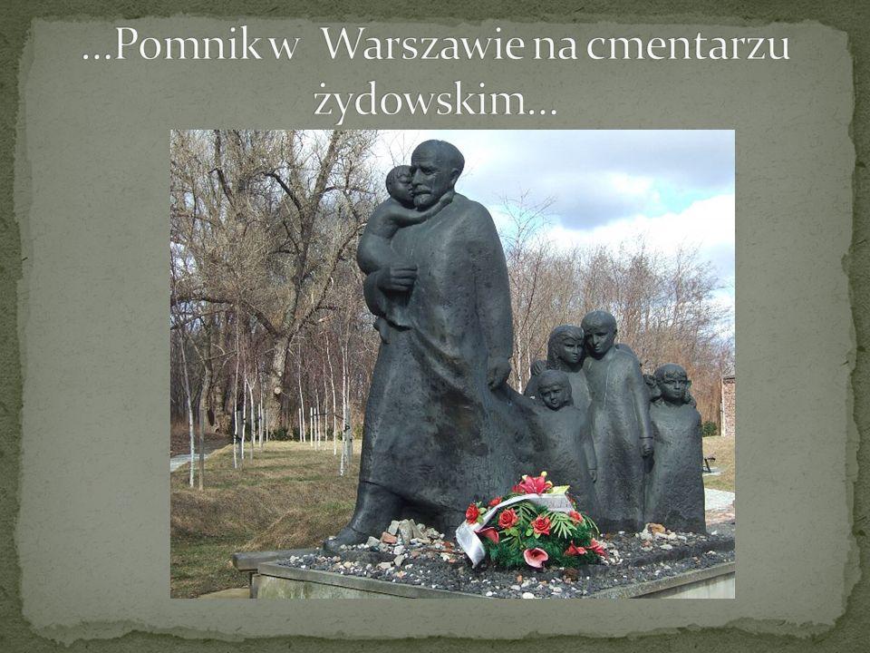 …Pomnik w Warszawie na cmentarzu żydowskim…
