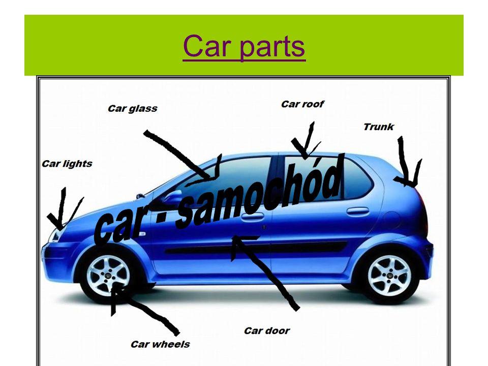 Car parts car - samochód