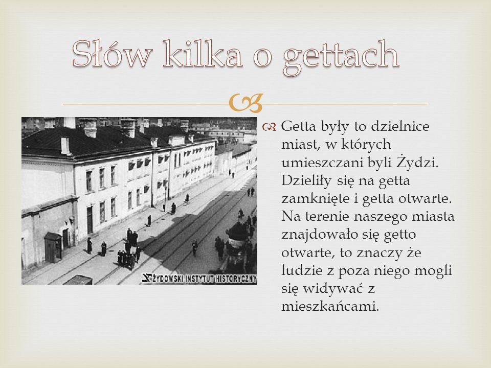 Słów kilka o gettach