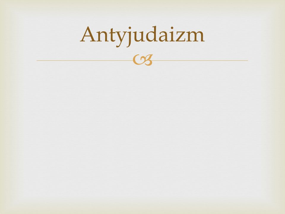 Antyjudaizm