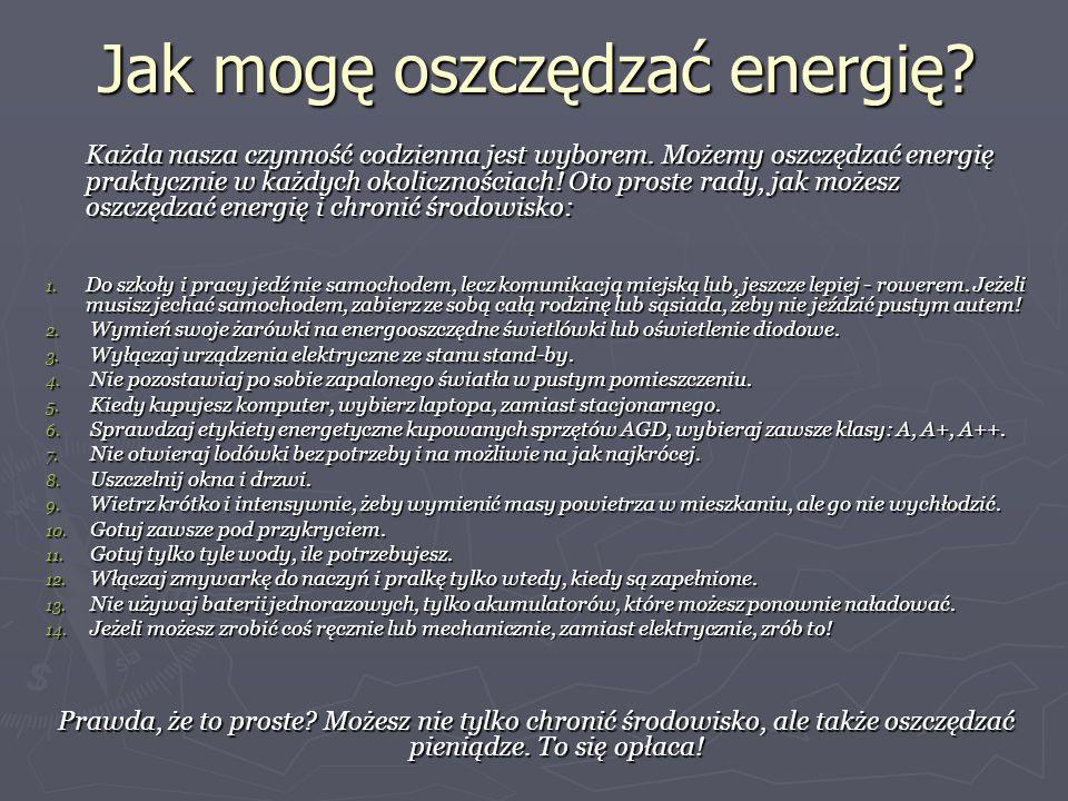 Jak mogę oszczędzać energię