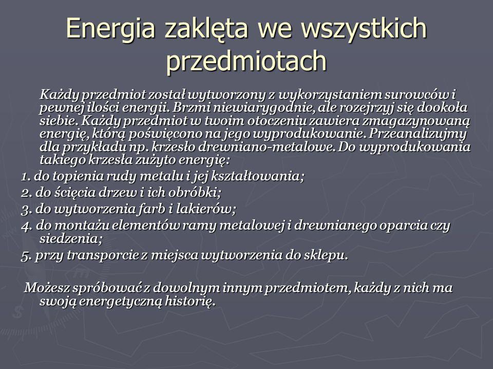 Energia zaklęta we wszystkich przedmiotach