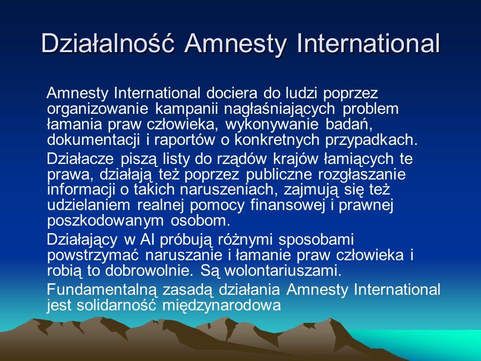 Działalność Amnesty International