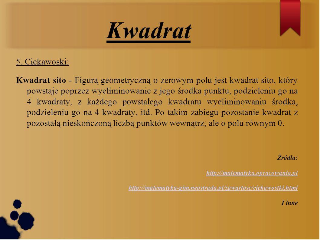 Kwadrat5. Ciekawoski: