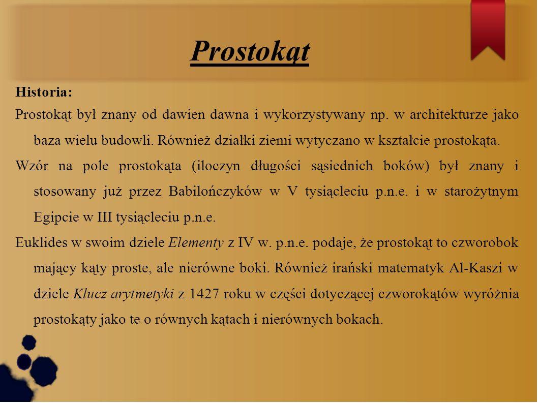 ProstokątHistoria: