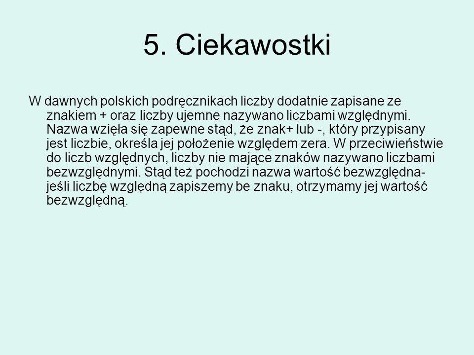 5. Ciekawostki