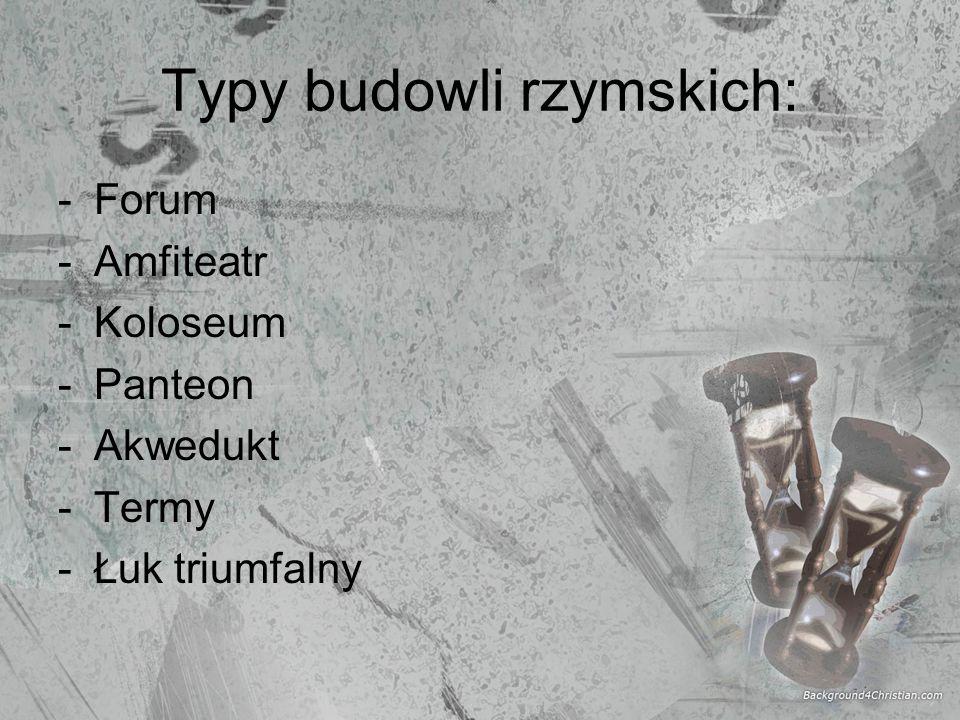 Typy budowli rzymskich: