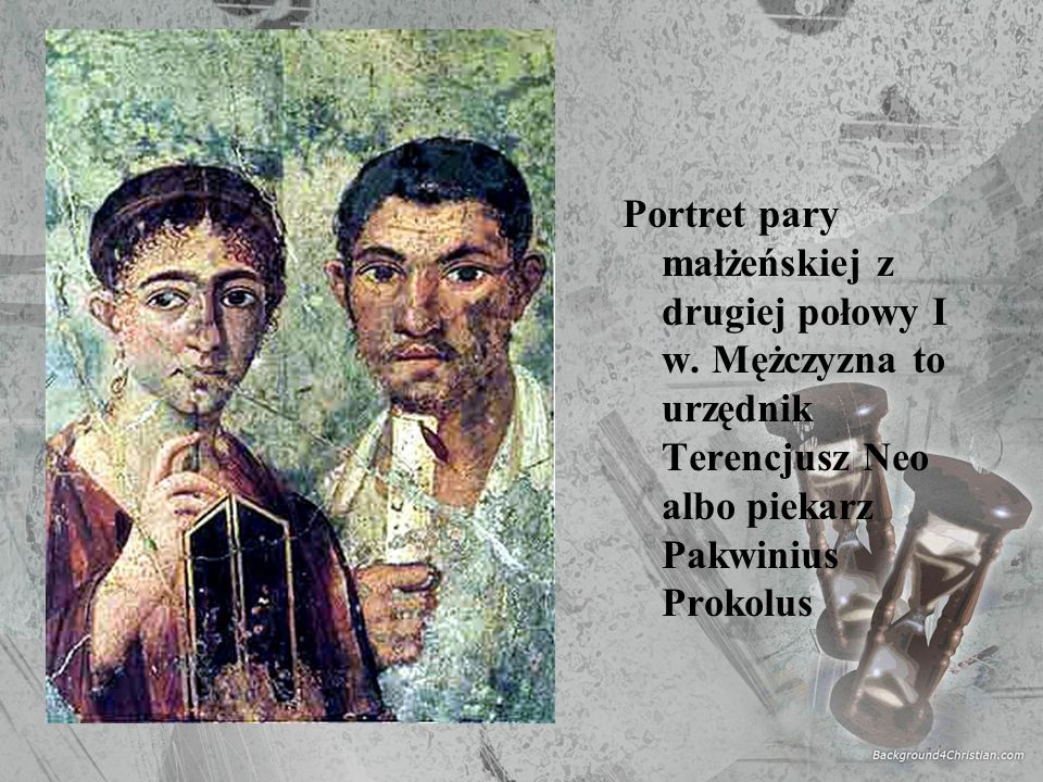 Portret pary małżeńskiej z drugiej połowy I w