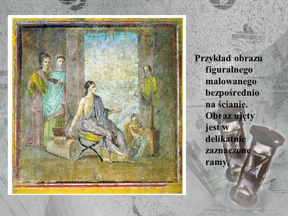 Przykład obrazu figuralnego malowanego bezpośrednio na ścianie