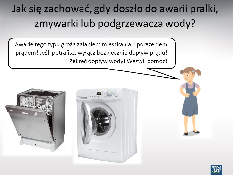 Jak się zachować, gdy doszło do awarii pralki, zmywarki lub podgrzewacza wody